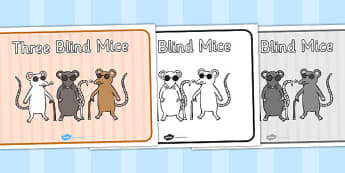 Three Blind Mice Sequencing - Three Blind Mice, nursery rhyme, rhyme, rhyming, nursery rhyme story, nursery rhymes, Three Blind Mice resources,