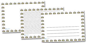 Tram Landscape Page Borders- Landscape Page Borders - Page border, border, writing template, writing aid, writing frame, a4 border, template, templates, landscape