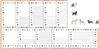 Dog Themed Page Borders Pack - Dame Lynley Dodd, hairy maclary, dog, page borders
