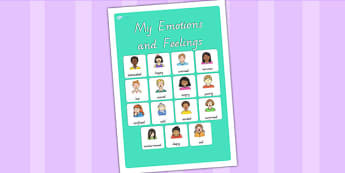 My Emotions and Feelings Vocabulary Poster - emotions, feelings