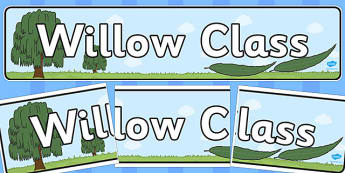 Willow Class Display Banner - willow class, display banner, display, banner