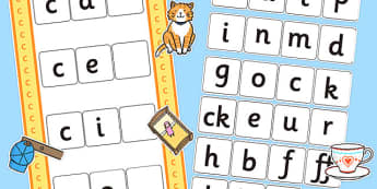 CVC c Word Activity Including Phase 2 Letters and Sounds - phases