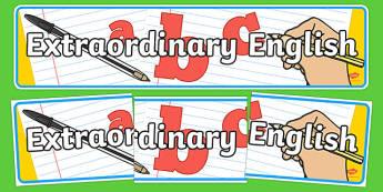 Extraordinary English Display Banner - extraordinary english, display banner, banner, header, banner display, display header, header display, display