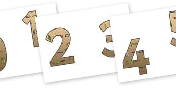0-9 Display Numbers (Egyptians) - Display numbers, 0-9, numbers, display numerals, Egyptian, history, display lettering, display numbers, display, cut out lettering, lettering for display, display numbers