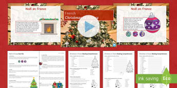 Christmas in France Differentiated Reading Comprehension Activity French - Christmas, French, Noël, France, reading, comprehension ,French