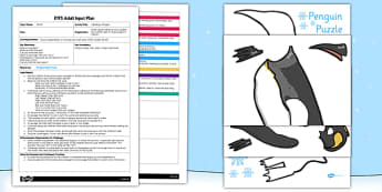 Labelling a Penguin EYFS Adult Input Plan and Resource Pack - EYFS, planning, early years, winter, animals, snow, polar regions, antarctic, PSED, Personal, Social, Emotional Development