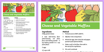Cheese and Vegetable Muffins Recipe - cooking, recipe, autumn, eyfs, early years, cheese, vegetable, muffins