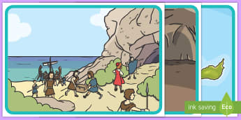 Odysseus and Cyclops Story Cards - Odysseus,Cyclops,Greek,Myth,Legend,Story, Sequencing