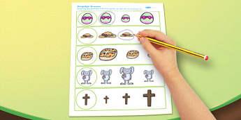 Afrikaans Easter Size Matching Worksheets - afrikaans, easter