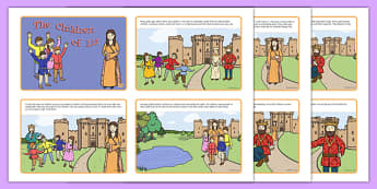 The Children of Lir Story Cards - Irish history, Irish story, Irish myth, Irish legends, The Children Of Lir, sequencing worksheet, literacy, reading