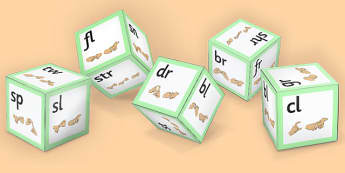Phase 4 Initial Blends Dice Net with British Sign Language - phase 4