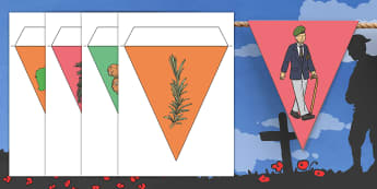 Anzac Day Rosemary Display Bunting - ANZAC Day - 25 April, remembrance, rosemary, war, lest we forget, Australia