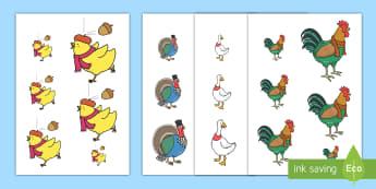 Huw Cyw Trefnu Maint - Chicken Licken, Henny Penny, Cocky Lockey, Drakey Lakey, Goosey Loosey, TurKey Lurkey, Foxy Loxy, Du