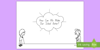 How Can We Make Our School Better? Mind Map Activity - tidy kiwi, New Zealand, rubbish, recycling, Years 1-6, prompts, discussion