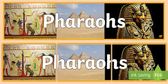 Pharaohs Photo Display Banner - Pharaohs Photo Display Banner - ancient egypt, photo display banner, display banner, banner, photo b