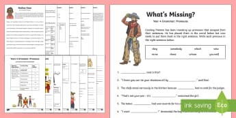 Year 4 Grammar: Pronouns Working From Home Activity Booklet - Learning From Home Activity Booklets (KS2), pronouns, repetition, nouns, cohesion,