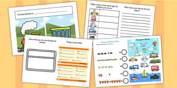 Train Transport Activity Booklet - activities, transport games