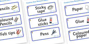 Welcome to our class - Teddy Bear Themed Editable Creative Area Resource Labels - Themed creative resource labels, Label template, Resource Label, Name Labels, Editable Labels, Drawer Labels, KS1 Labels, Foundation Labels, Foundation Stage Labels