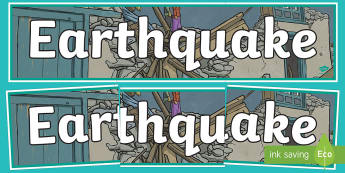 Earthquake Display Banner