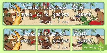 Bilingual Sāmoan Language Week Display Banner - Samoa, Samoan, Language Week, Samoan Language Week