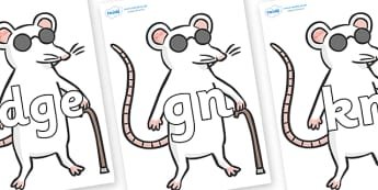 Silent Letters on Blind Mice - Silent Letters, silent letter, letter blend, consonant, consonants, digraph, trigraph, A-Z letters, literacy, alphabet, letters, alternative sounds