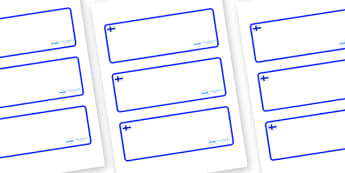 Finland Themed Editable Drawer-Peg-Name Labels (Blank) - Themed Classroom Label Templates, Resource Labels, Name Labels, Editable Labels, Drawer Labels, Coat Peg Labels, Peg Label, KS1 Labels, Foundation Labels, Foundation Stage Labels, Teaching Labe