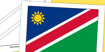 Namibia Flag Display Poster - countries, country, geography