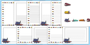 Talking Steam Train Themed Page Borders Pack - thomas the tank engine, talking steam train, page borders