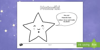 Matariki Colouring Pages -  - New Zealand Matariki, Matariki, New Year, Maori New Year, Maori, Celebration, Festival