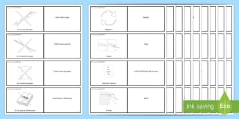French Target Language Word Cards - Back to School, French, target language, key phrases, speaking, French