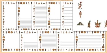 Maya Civilisation Page Borders - maya civilisation, mayan, ancient, page borders, writing frame