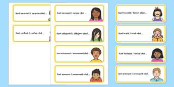 Jocul sentimentelor - Termină propoziția - emoții, joc, sentimente, propoziția, dezvoltare personală, materiale, materiale didactice, română, romana, material, material didactic
