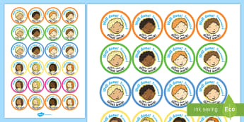 School Role Play Stickers Arabic/English - School Role Play Stickers - School Role Play Pack, school role play, register, teacher, stickers, ce