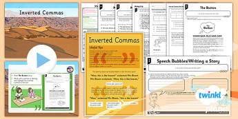 PlanIt Y4 SPaG Lesson Pack: Inverted Commas  - GPS, speech marks, direct speech, spelling, grammar, punctutation