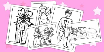 Sleeping Beauty Colouring Sheets - sleeping beauty, colouring, colouring sheets, colouring pages, colouring in sheets, colouring activity, wet play, games