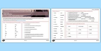 Les enjeux mondiaux Set d'activités - Global, issues, vocabulary, vocabulaire, revision, learning, mat, words, gcse, french, francais, mfl, ks4, key stage 4, four