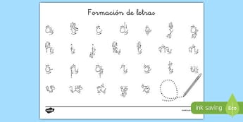 Decoración de la clase Formación de letras reusable-Spanish