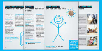 Unicef Day for Change 2016 Fundraising Guide