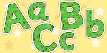 Jack and the Beanstalk Lowercase Display Lettering - Jack and the beanstalk display lettering, lowercase display lettering, display lettering
