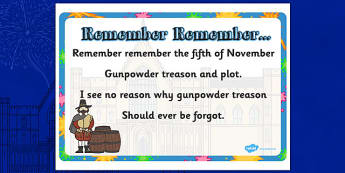 Remember Remember Display Posters - Gunpwoder Plot, Story, Bonfire night, Guy Fawkes, bonfire, Houses of Parliament, plot, treason, fireworks, Catholic, Protestant, James I