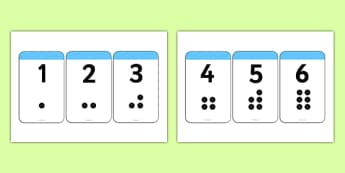 Digit Cards with Spots - digit cards, spots, number cards, cards