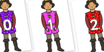 Numbers 0-50 on Princes - 0-50, foundation stage numeracy, Number recognition, Number flashcards, counting, number frieze, Display numbers, number posters