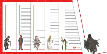 A Christmas Carol Page Borders - christmas, carol, page borders, scrooge, Charles Dickens