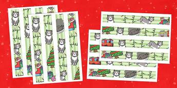 Christmas Cat Themed Display Border - christmas cat, cat, christmas, themed, display border, display, border, mog