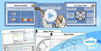 PlanIt - RE Year 3 - Judaism Lesson 4: Special Festivals Lesson Pack - jew, jewish, Passover, Bar Mitzvah, Seder