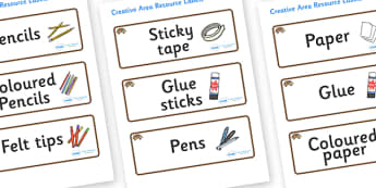 Hedgehog Themed Editable Creative Area Resource Labels - Themed creative resource labels, Label template, Resource Label, Name Labels, Editable Labels, Drawer Labels, KS1 Labels, Foundation Labels, Foundation Stage Labels