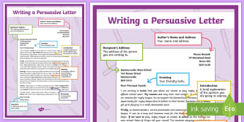 Persuasive Letter Display Poster - English, persuasive letter, persuasive text, persuade, features,Australia