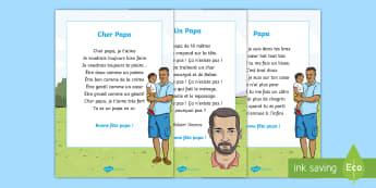 Pack de ressources : Poèmes pour la fête des pères - La fête des pères, cycle 3,  KS2, Father's Day, 18th June, 18 juin, papa, poèmes, poems