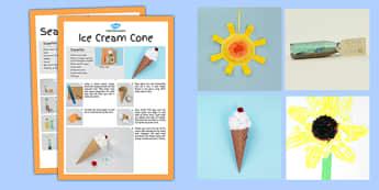 Summer Themed Craft Activity Pack - summer, craft, activity
