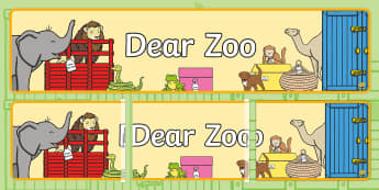 Letter to the Zoo Display Banner - Dear Zoo, Rod Campbell, animals, letter to the zoo,